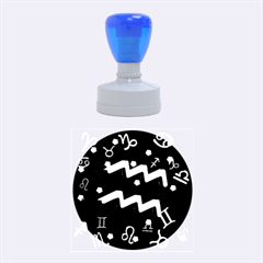 Aquarius Floating Zodiac Sign Rubber Round Stamps (medium)