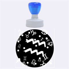 Aquarius Floating Zodiac Sign Rubber Round Stamps (Large)
