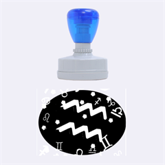 Aquarius Floating Zodiac Sign Rubber Oval Stamps