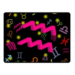 Aquarius Floating Zodiac Sign Double Sided Fleece Blanket (small)