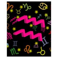 Aquarius Floating Zodiac Sign Drawstring Bag (small)