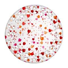 Heart 2014 0603 Ornament (round Filigree)