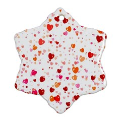 Heart 2014 0603 Snowflake Ornament (2-Side)