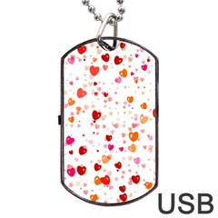 Heart 2014 0603 Dog Tag USB Flash (Two Sides)