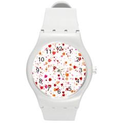 Heart 2014 0603 Round Plastic Sport Watch (m)