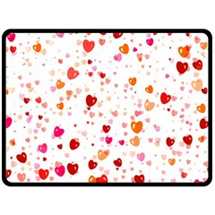 Heart 2014 0603 Double Sided Fleece Blanket (large)