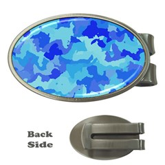 Camouflage Blue Money Clips (oval)