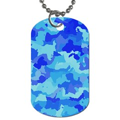 Camouflage Blue Dog Tag (one Side)