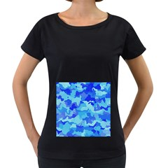 Camouflage Blue Women s Loose Fit T Shirt (black)