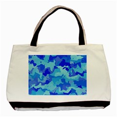 Camouflage Blue Basic Tote Bag (two Sides)