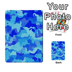 Camouflage Blue Multi-purpose Cards (Rectangle)