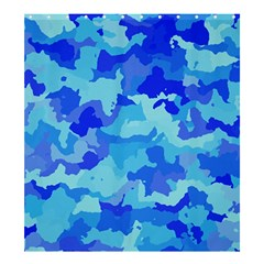 Camouflage Blue Shower Curtain 66  x 72  (Large)
