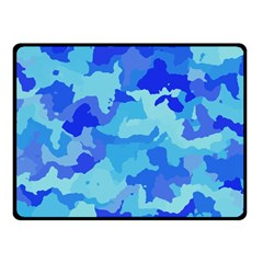 Camouflage Blue Fleece Blanket (Small)