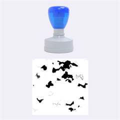 Camouflage Blue Rubber Round Stamps (medium)