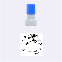 Camouflage Blue Rubber Round Stamps (Small)