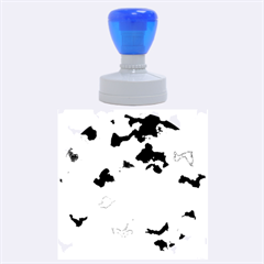 Camouflage Blue Rubber Round Stamps (large)