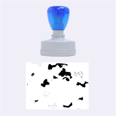 Camouflage Blue Rubber Oval Stamps