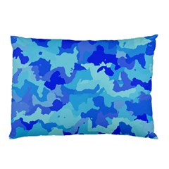 Camouflage Blue Pillow Cases (two Sides)