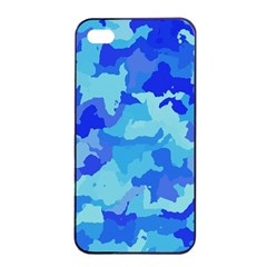 Camouflage Blue Apple iPhone 4/4s Seamless Case (Black)