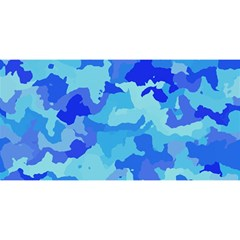 Camouflage Blue You Are Invited 3d Greeting Card (8x4)