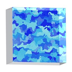 Camouflage Blue 5  x 5  Acrylic Photo Blocks