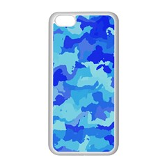 Camouflage Blue Apple Iphone 5c Seamless Case (white)