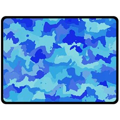 Camouflage Blue Double Sided Fleece Blanket (Large)