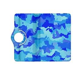 Camouflage Blue Kindle Fire Hdx 8 9  Flip 360 Case