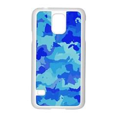 Camouflage Blue Samsung Galaxy S5 Case (white)