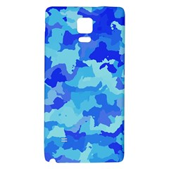 Camouflage Blue Galaxy Note 4 Back Case