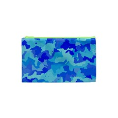 Camouflage Blue Cosmetic Bag (XS)