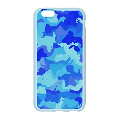 Camouflage Blue Apple Seamless iPhone 6 Case (Color)