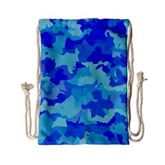 Camouflage Blue Drawstring Bag (Small)