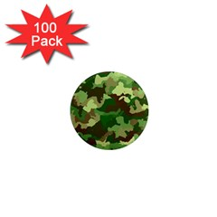 Camouflage Green 1  Mini Magnets (100 Pack)