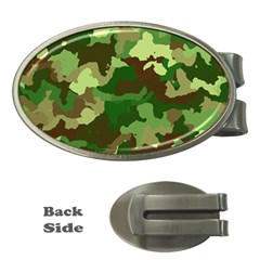 Camouflage Green Money Clips (oval)