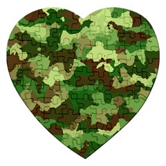 Camouflage Green Jigsaw Puzzle (heart)