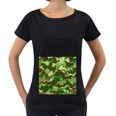 Camouflage Green Women s Loose-Fit T-Shirt (Black)