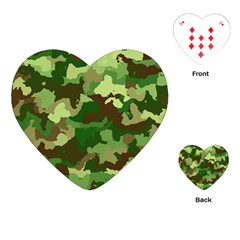 Camouflage Green Playing Cards (heart)