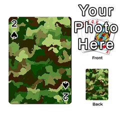 Camouflage Green Playing Cards 54 Designs