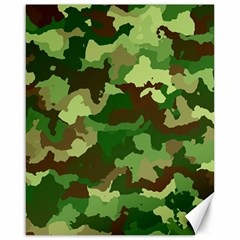 Camouflage Green Canvas 16  X 20