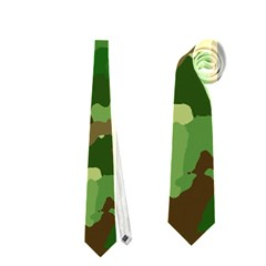 Camouflage Green Neckties (One Side)