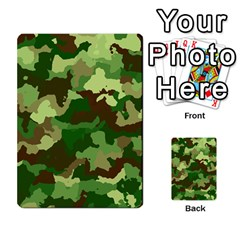 Camouflage Green Multi Purpose Cards (rectangle)