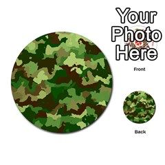 Camouflage Green Multi-purpose Cards (Round)