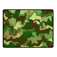 Camouflage Green Fleece Blanket (Small)