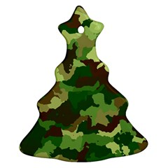 Camouflage Green Ornament (christmas Tree)