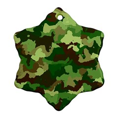Camouflage Green Snowflake Ornament (2 Side)
