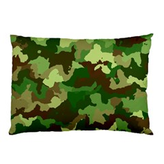 Camouflage Green Pillow Cases (two Sides)