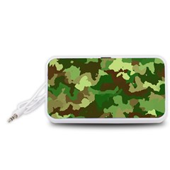 Camouflage Green Portable Speaker (white)