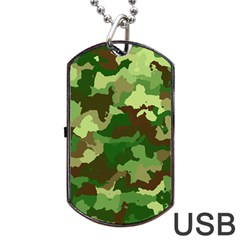 Camouflage Green Dog Tag USB Flash (Two Sides)