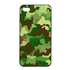 Camouflage Green Apple Iphone 4/4s Seamless Case (black)